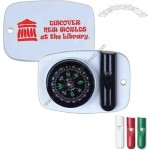 Combination compass and whistle