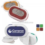 Combination rotatable pedometer and clock
