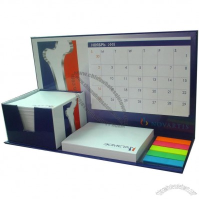 Combined Note Pad with Calendar