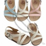 Comfortable Cute Baby Sandals with Leather Upper and Outsole