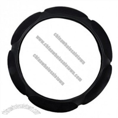 Comfortable Steering Wheel Cover With 3d Flocking Black