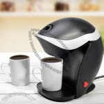 Compact Electric Coffee Maker with Mugs