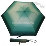 Compact Superslim Teal Glitter Umbrella