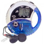Compact digital scan radio and stopwatch combo