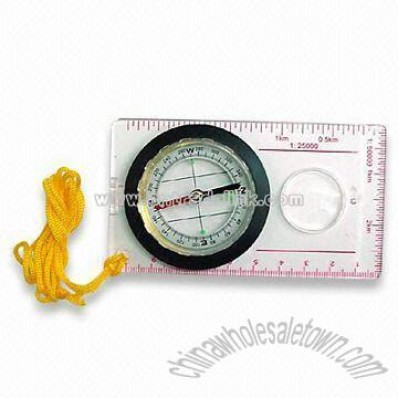 Compass Magnifier with Ruler