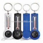 Compass Thermometer Keychain
