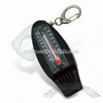 Compass with Thermometer & Whistle Keychain