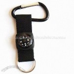 Compass with aluminum carabiner/climb hook and keyring