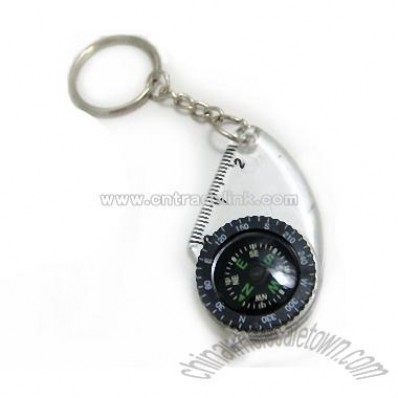 Compass with key ring