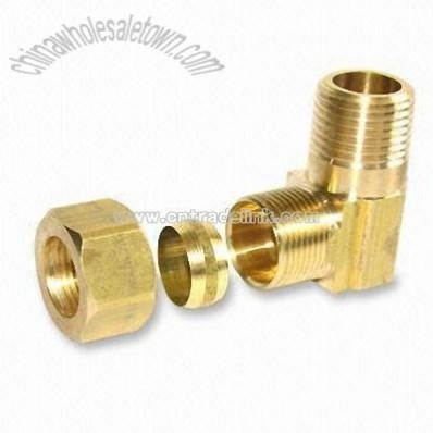Compression Male Pipe with Copper or Brass Sleeve