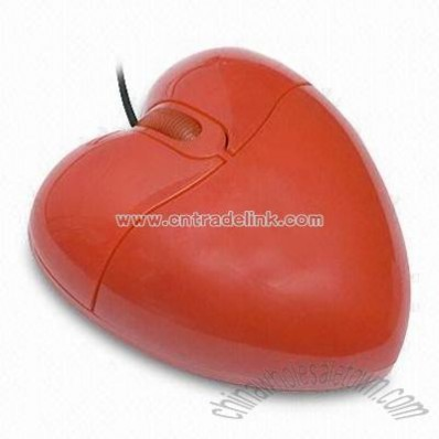 Computer Optical Mouse in Heart Shape