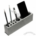 Concrete Desktop Stationery Organizer Storage Cell Phone Holder