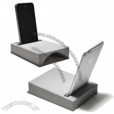 Concrete Speaker Sound Amplifier Stand Dock for SmartPhone