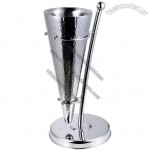 Cone Shaped Wine Champagne Bucket Stand