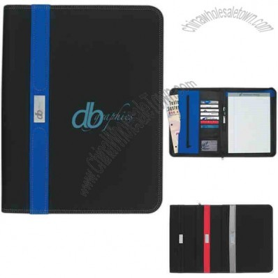 Contemporary - Zippered Portfolio With 30 Page Writing Pad