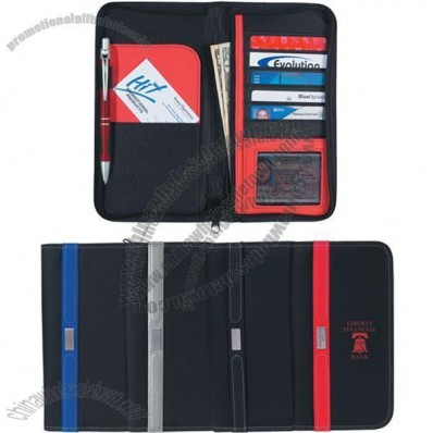Contemporary Travel Wallet with Zipper