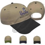 Contrasting Visor Structured Cap