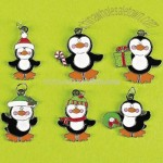 Cool Christmas Penguin Enamel Charms