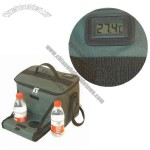 Cooler Bag with Bottle Tray and Thermometer