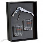 Corkscrew and Shot Glass Gift Set