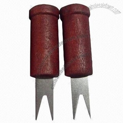 Corn Holders, Set of 2, Wooden Handle
