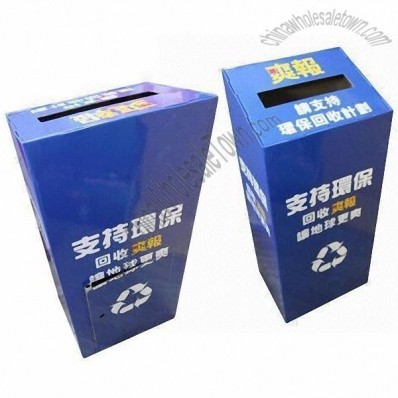 Corrugated Cardboard Recycling Bins Display for Public Welfare Propaganda