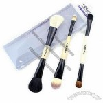 Cosmetic Brush Set with Wooden Handle