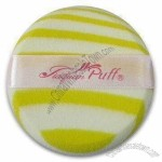 Cosmetic Puff in Yellow and White Stripe Color