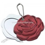 Cosmetic mirror with keyring