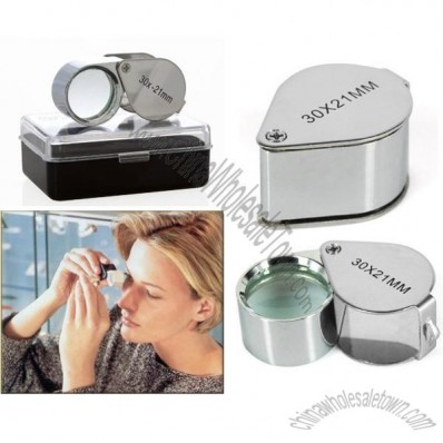 CostMad Jewellers Jewellery Pocket Loupe High Powered 30x / 30 x 21 mm Magnifier Magnifying Magnification Glass Eye Lens