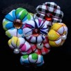 Costume Brooch with Imitation Pearl