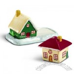 Cottage Christmas Salt & Pepper Shakers