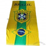 Cotton Brazil Soccer Fans Bath Towel