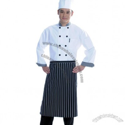 Cotton Executive Chef Coat With Piping