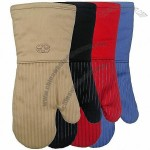 Cotton Oven Mitts with Silicone Coating