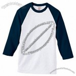 Cotton Raglan Baseball Custom T-Shirt - Whites