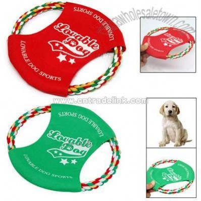 Cotton Rope Dog Puppy Doggle Doggie Frisbee Flyer Toy