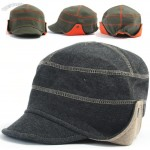 Cotton Stretch Fit Baseball Cap Short Bill Ball Caps Aviator Trapper