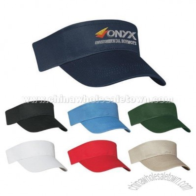 Cotton Twill Visor Cap - Screen Printed