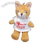 Cougar shape stuffed animal with keychain