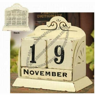 Country French Calendar - Exclusive Country French Wooden Perpetual Calendar