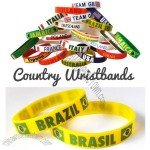 Country Wristbands - World Cup Olympics Summer Winter - Custom National Flag for All Sports
