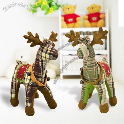 Couples Elk Plush Toys With Bells