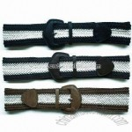 Covered PU Buckles Fabric Belt