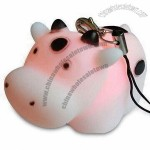 Cow Shaped Mobile Phone Novelty with Strap, Pendant and Flash