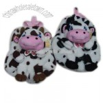 Cow Shaped Plush Backpack