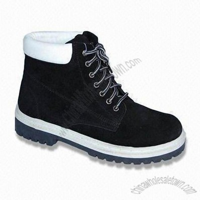 Cow Suede Upper Hiking Boots with TPR Injection Outsole