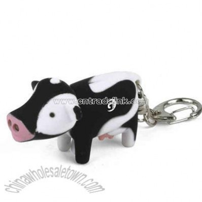 Cow key holder with led light