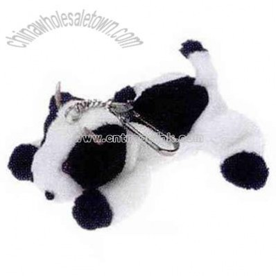 Cow shape animal toys with keychain