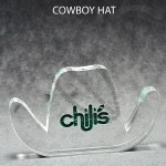 Cowboy Hat Shaped Acrylic Award